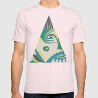 visitor Mens Fitted Tee Light Pink SMALL
