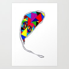 Broken Glass Balloon Art Print