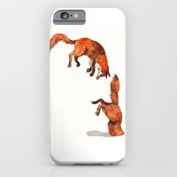 iPhone & iPod Case featuring Jumping Red Fox by Goosi