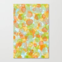 Pebbles Orange Canvas Print
