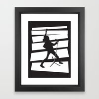 Legendary Punk Frontman Framed Art Print