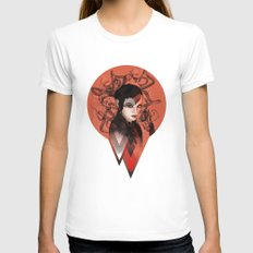 RED TRIANGLE Womens Fitted Tee White SMALL