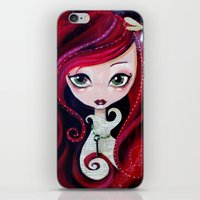 Red Portrait iPhone & iPod Skin