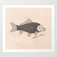 Catfish Blues Art Print