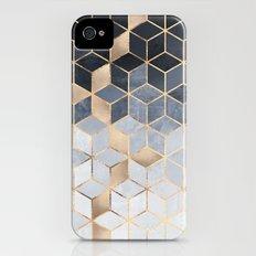 Soft Blue Gradient Cubes iPhone (4, 4s) Slim Case