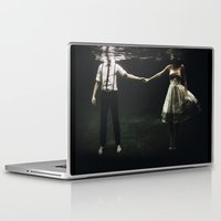 portrait Laptop & iPad Skins featuring abyss of the disheartened : IX by Heather Landis