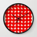 Unity Red Wall Clock