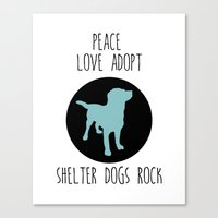 Shelter Dog And Rescue A… Canvas Print