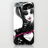 iPhone & iPod Case featuring The pink whip by Miss Geisterhausen