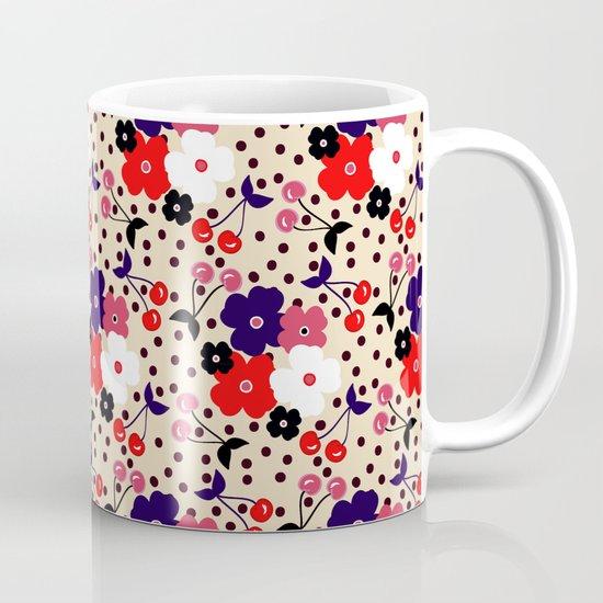 Cream Cherry Mug