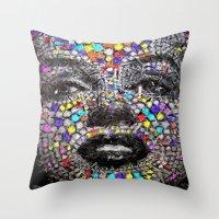 Marilyn Mosaic Throw Pillow