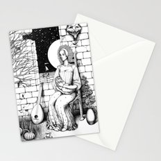 Maid with a Small Child  Stationery Cards