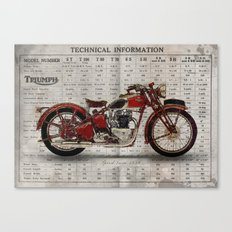 Triumph Speed Twin 1939 Canvas Print