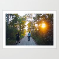 sun down summer Art Print