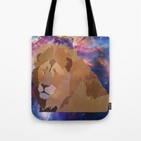 The Lion Is High Tote Bag