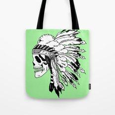Black and White Native American  Tote Bag
