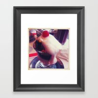 Happiness Is An Ice Cream Sundae Framed Art Print