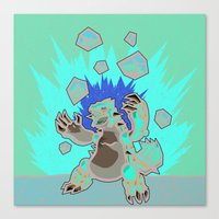 Groudon Used Eruption Canvas Print