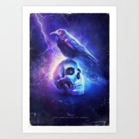 Art Print featuring Le Corbeau by Falcon White
