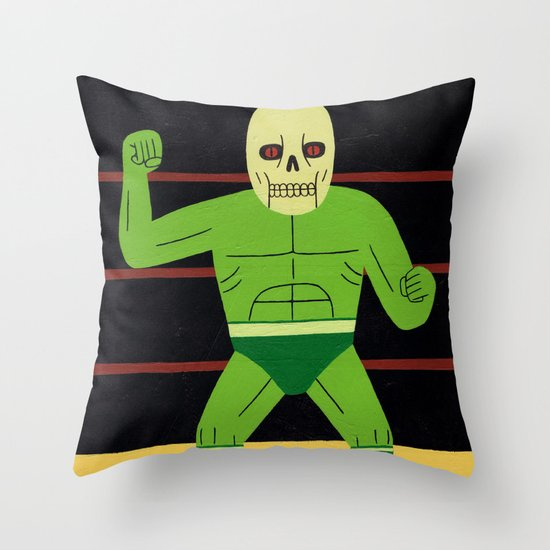 The Glowing Skull Throw Pillow