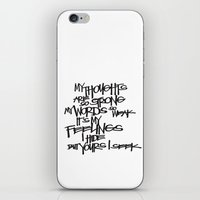 My Thoughts Are Strong iPhone & iPod Skin
