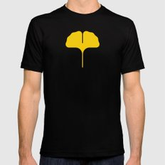Ginkgo Leaf Mens Fitted Tee SMALL Black