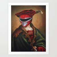 Portrait Of A Stately Ranger Art Print