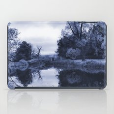 Chinese Bridge at Wrest Park in Blue iPad Case