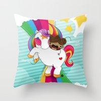 Chestnut Girl And Starlight Throw Pillow