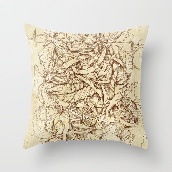 Water,Earth & Air Throw Pillow