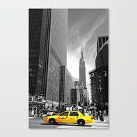 The yellow cab Canvas Print