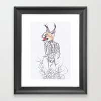 Half Man Half Caracal Framed Art Print