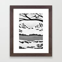 Scissortail Winter Framed Art Print