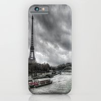 iPhone & iPod Case featuring The Eiffel Tower and the Seine - Paris cityscape - hdr by 2b2dornot2b