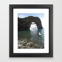 Durdle Door Man Framed Art Print