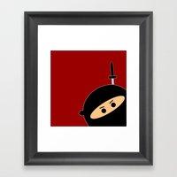 Ninja at Sunset Framed Art Print