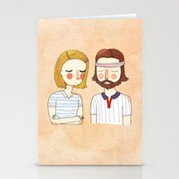 girl Stationery Cards featuring Secretly In Love by Nan Lawson