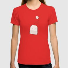 Tea time Womens Fitted Tee Red SMALL