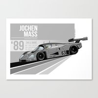 Jochen Mass - 1989 Le Mans Canvas Print