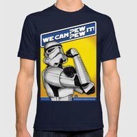Stormtrooper: 'WE CAN PEW-PEW IT!' Mens Fitted Tee Navy SMALL