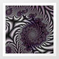Purple And Gray Art Print