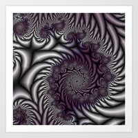 Purple And Gray Art Print