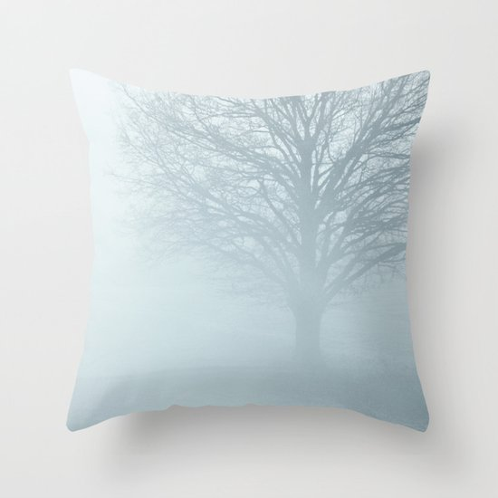 Tree / Winter Silence Throw Pillow