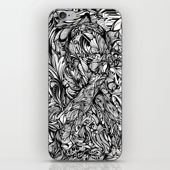 Conquer (Black & White Version)  iPhone & iPod Skin