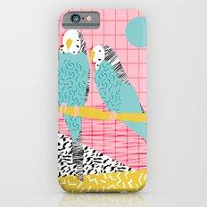 Hottie - throwback retro 1980s 80s style memphis dots bird art neon cool hipster college dorm art iPhone 6 Slim Case