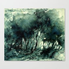 mürekkeple orman Canvas Print