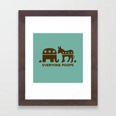 Everyone Poops Framed Art Print