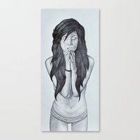 it's too late to pray... Canvas Print