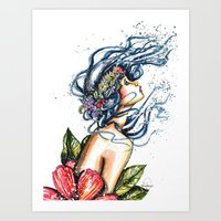 Do You Suppose She's a Wildflower? Art Print