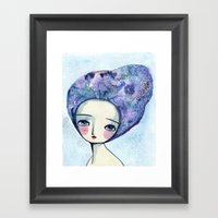The Muse Of Winter Framed Art Print